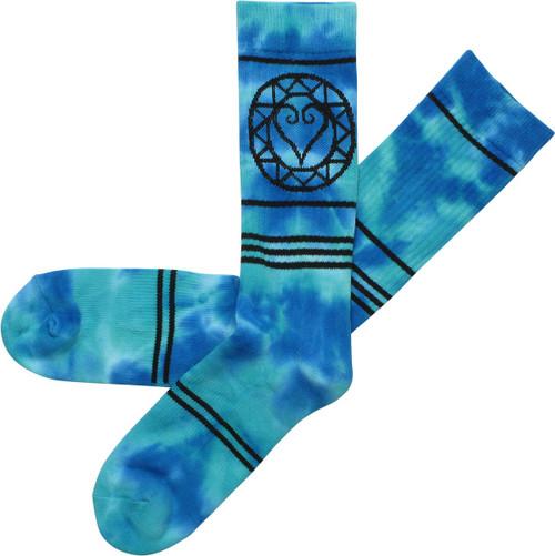 Kingdom Hearts Logo Tie Dyed Crew Socks