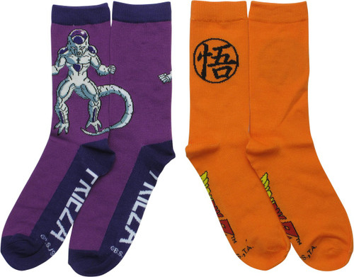 Dragon Ball Z Go Frieza 2 Pair Crew Socks Set