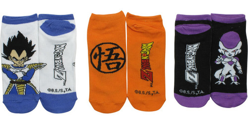 Dragon Ball Z Go Chars 3 Pair Low Cut Socks Set