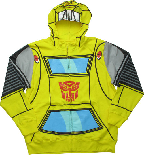 Transformers Bumblebee Masked Costume Youth Hoodie youth-hood-transformers -bee-mask-zip 73b20278ade