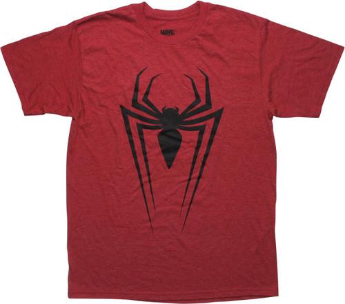 Spiderman Black Spider Logo Red T-Shirt