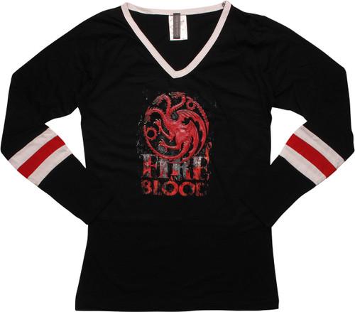 Game of Thrones Targaryen LS Cover Juniors T-Shirt