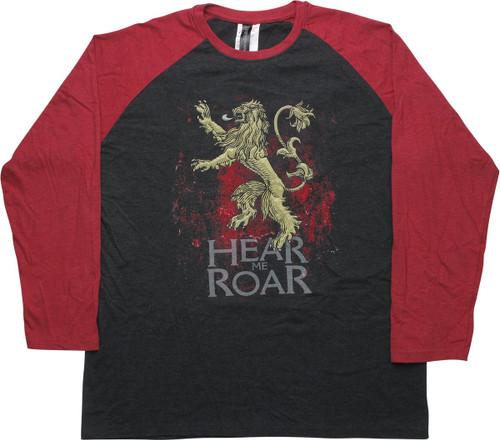 Game of Thrones Hear Me Roar Raglan T-Shirt