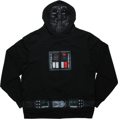 Star Wars Darth Vader Costume Face Zipper Hoodie