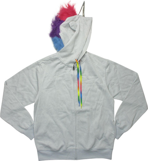 Gay Pride Rainbow Unicorn Costume Zipper Hoodie