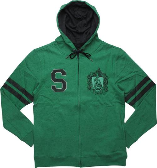 Harry Potter Slytherin Crest Green Zip Hoodie