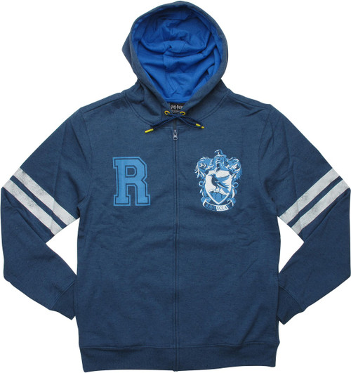 Harry Potter Ravenclaw Crest Blue Zip Hoodie
