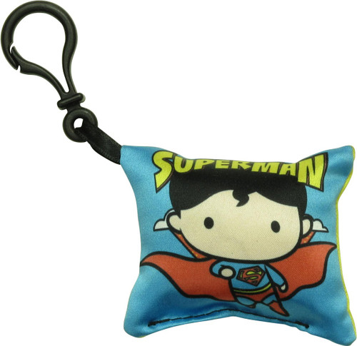 Superman Chibi Logo Pillow Keychain