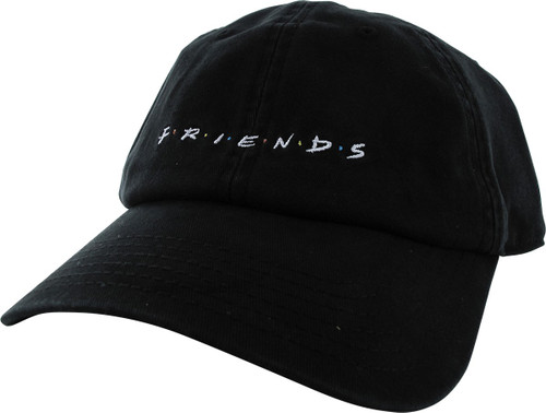 Friends Logo Black Snapback Hat
