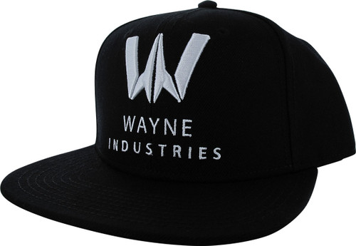 Batman Wayne Industries Logo Black Snapback Hat