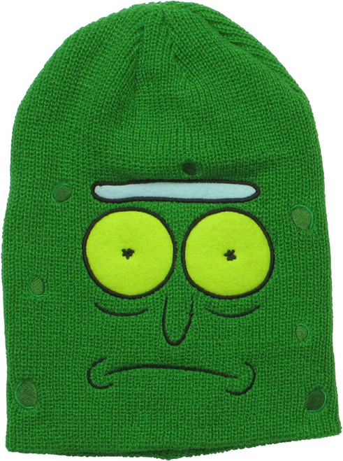 Rick and Morty Pickle Rick Face Green Beanie