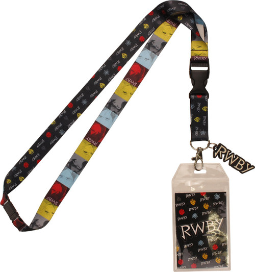 RWBY Heroine Faces and Symbols Lanyard