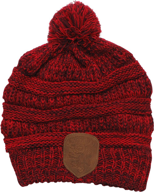 Harry Potter Gryffindor Knit Pom Red Beanie