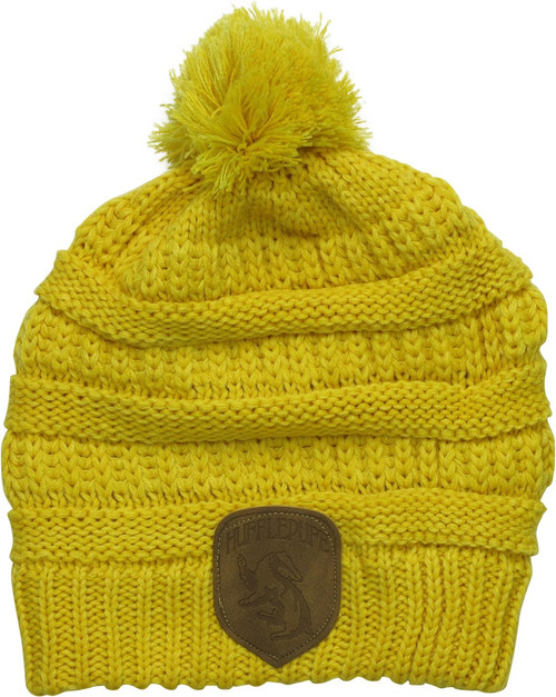 Harry Potter Hufflepuff Knit Pom Yellow Beanie