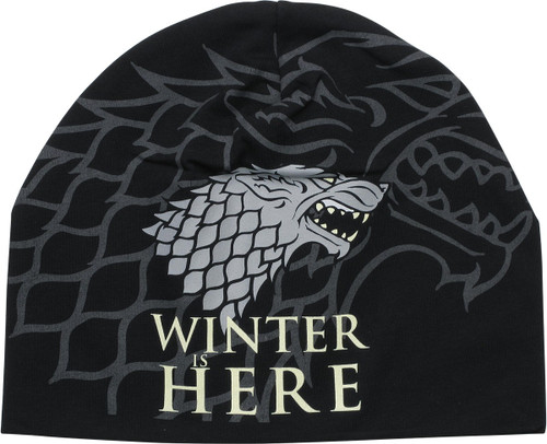 Game of Thrones Stark Logo Winter is Here Beanie