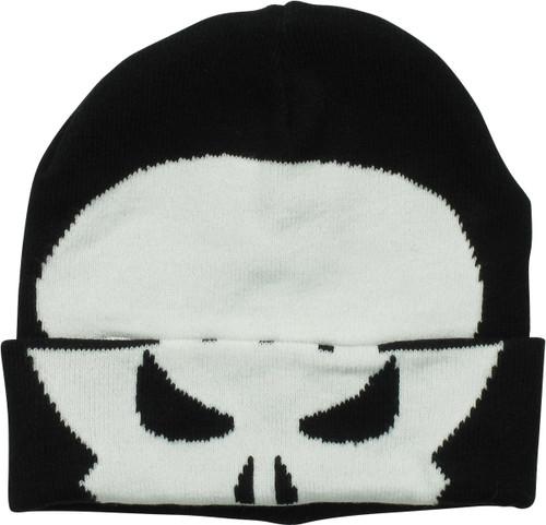 Punisher Logo Flip Down Cuff Beanie