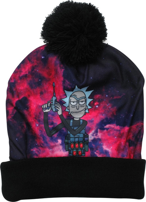 Rick and Morty Galaxy Rick Pom Beanie