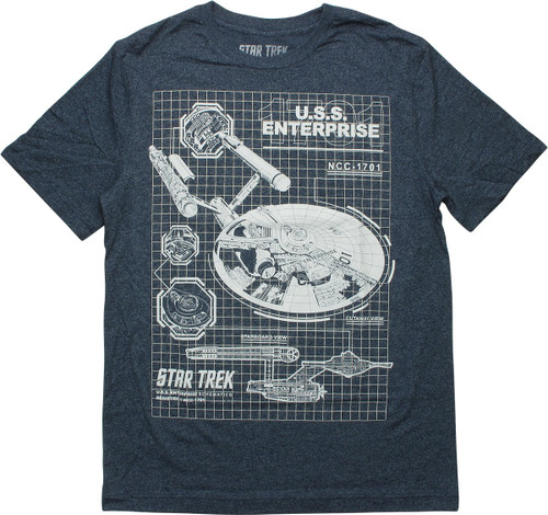 Star Trek USS Enterprise Blueprint T-Shirt