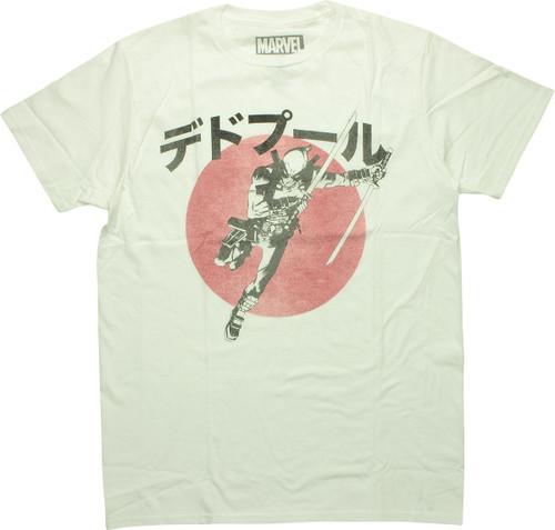 Deadpool Kanji White T-Shirt