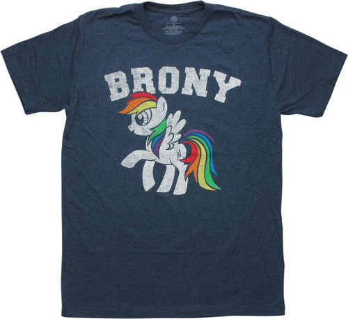 My Little Pony Rainbow Dash Brony Distress T-Shirt