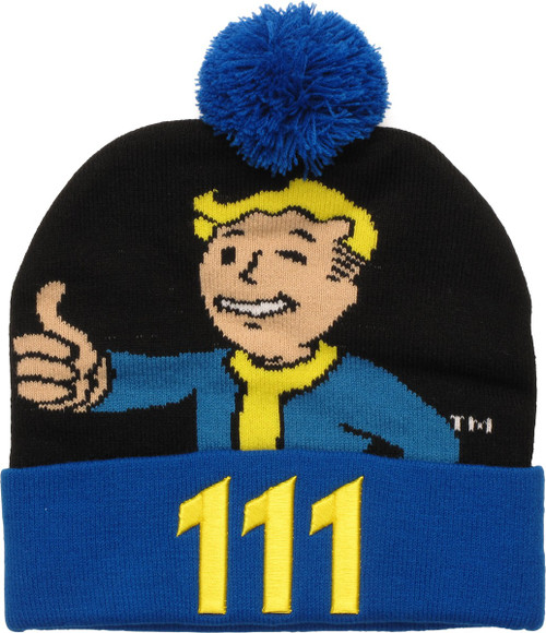 Fallout Vault Boy 111 Cuff Pom Beanie