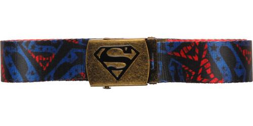 Superman All Over Logos Mesh Belt