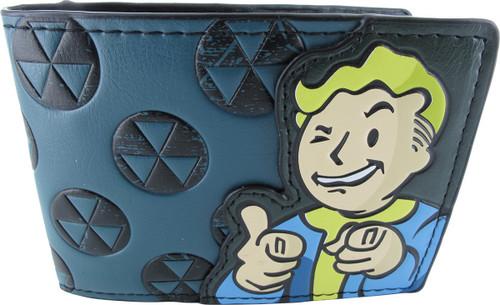 Fallout Vault Boy Biohazard Logos BiFold Wallet
