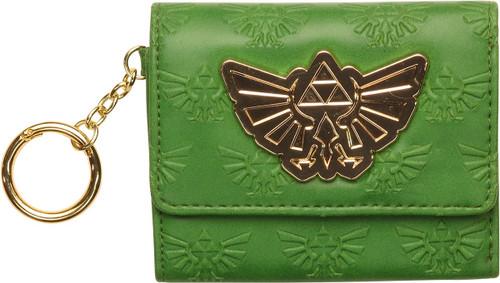 Zelda Logo All Over Green Tri Fold Wallet