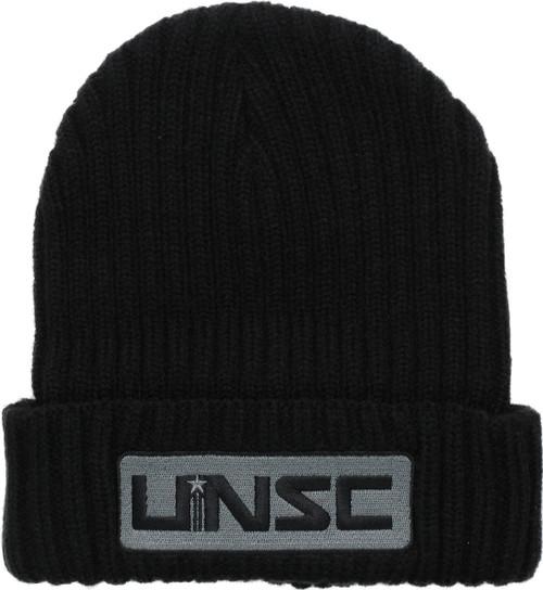 638071b9905 Halo UNSC Logo Patch Cuff Black Beanie