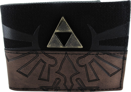 Zelda Logo Raised Metal Triforce Bi-Fold Wallet