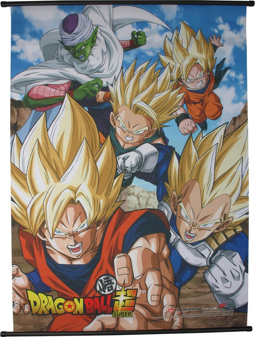Dragon Ball Super Heroic Characters Wall Scroll