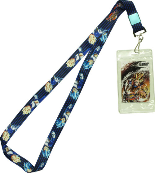 Dragon Ball FighterZ SS Blue Vegeta Lanyard