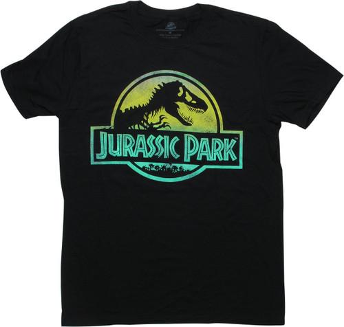 Jurassic Park Gradient Logo Black T-Shirt