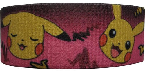 Pokemon Pikachu Faces Pink Elastic Wristband