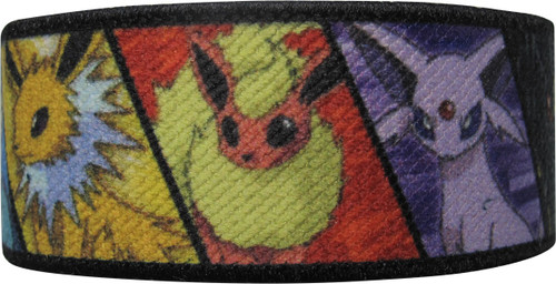 Pokemon Eevee Evolution Blocks Elastic Wristband