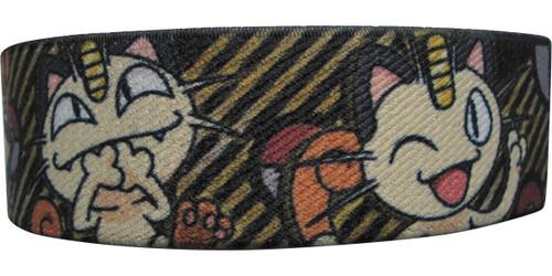 Pokemon Meowth Faces Elastic Wristband