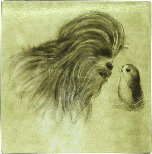 Star Wars Force Awakens Chewbacca and Porg Magnet