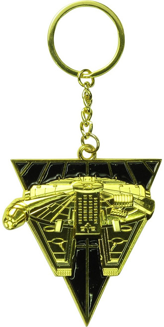 Star Wars Millennium Falcon Triangle Gold Keychain