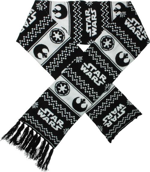 Star Wars Name Rebel Imperial Logo Jacquard Scarf