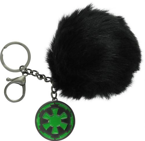 Star Wars Imperial Logo Furry Pom Keychain