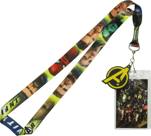 Avengers Infinity War Hero Faces Lanyard