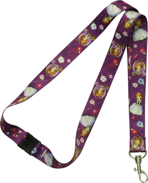 Sofia the First Purple Lanyard