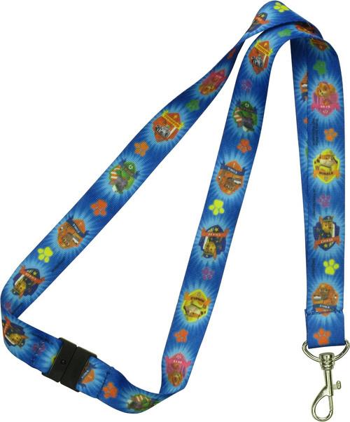 Paw Patrol Characters Badges Blue Lanyard