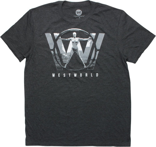 Westworld Logo Heathered Charcoal T-Shirt