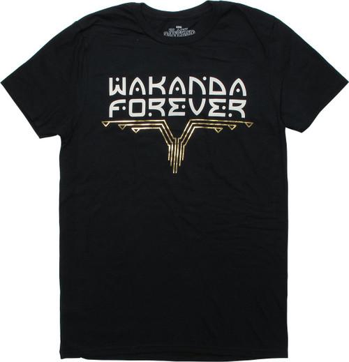 170c3d08431 Black Panther Movie Wakanda Forever Black T-Shirt