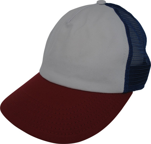 ST Dustin Red White and Blue Cosplay Trucker Hat