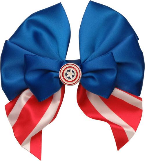 Captain America Shield Flag Hair Bow
