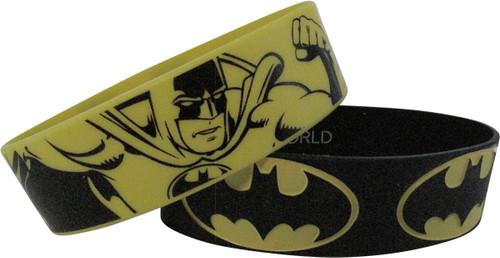 32de254c0a4f1 Batman Logos Action Rubber Wristband Set wristband-batman-logos-rubber-set