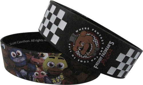 Five Nights at Freddy's Pizza Rubber Wristband Set