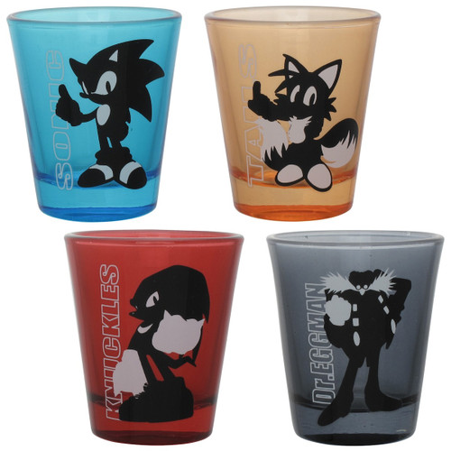 Sonic the Hedgehog Cast Silhouette Shot Glass Set